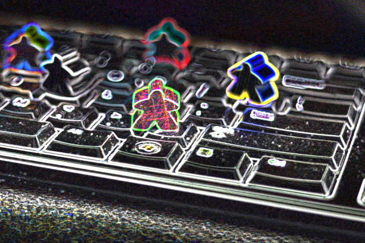 "Image by James Naylor based on ""Meeples Keyboard 2"" by jitterbug: https://www.flickr.com/photos/dejonghe/8047795930/in/photostream/"