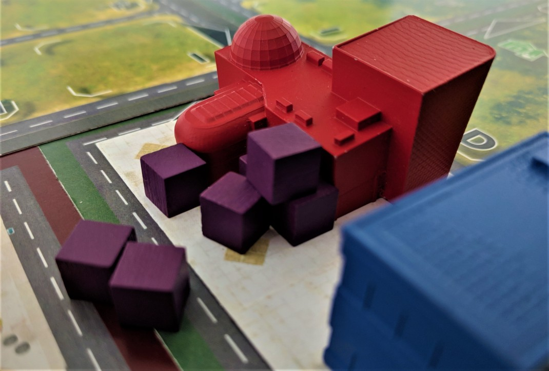 Shopping mall and cubes